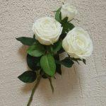 Роза пионовидная 2+1/белая